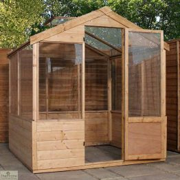 6 x 4 Evesham Wooden Greenhouse _1