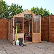 8 x 6 Evesham Wooden Greenhouse