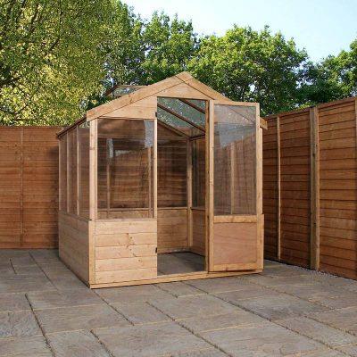 8 x 6 Evesham Wooden Greenhouse_2
