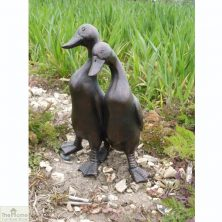 Duck Pair Garden Ornament