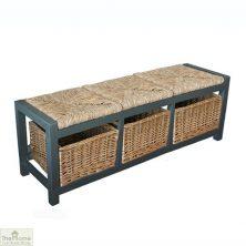 Casamoré Gloucester 3 Drawer Storage Bench Slate Grey