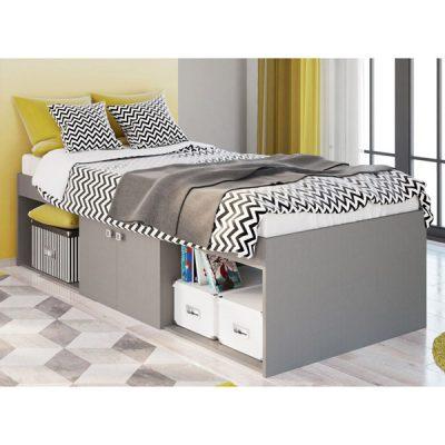 Grey Single Cabin Bed_1