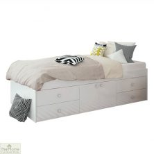 White 4 Drawer Single Cabin Bed