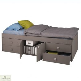 Grey 4 Drawer Single Cabin Bed
