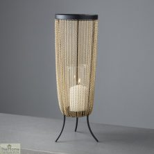 Gold Chain Large Candle Holder