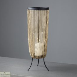 Gold Chain Large Candle Holder_1