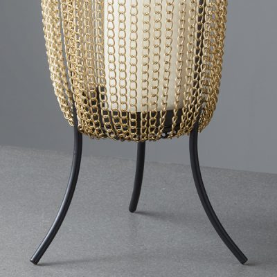 Gold Chain Large Candle Holder_3