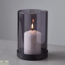 Black Tinted Glass Candle Holder