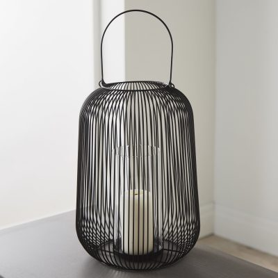 Black Cage Lantern Candle Holder_3