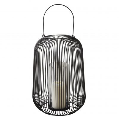 Black Cage Lantern Candle Holder_2