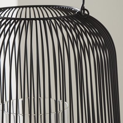 Black Cage Lantern Candle Holder_4