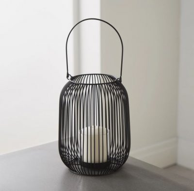 Black Cage Lantern Candle Holder_1