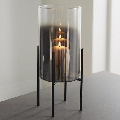 Glass Stand Pillar Candle Holder_1
