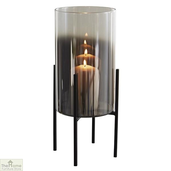 Glass Stand Pillar Candle Holder