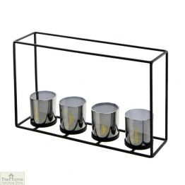 4 Glass Candle Holder Frame