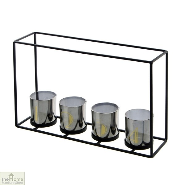 4 Glass Candle Holder Frame