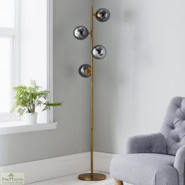 Four Sphere Gold Floor Lamp_1