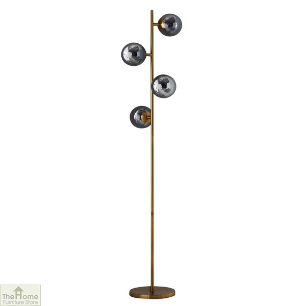 Four Sphere Gold Floor Lamp