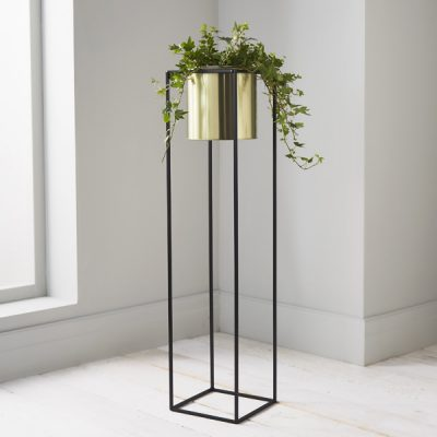 Gold Large Plant Holder Stand_1