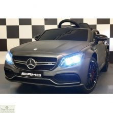 Mercedes C63 AMG 12v Ride on Car – Matte Grey