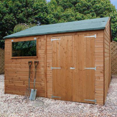 12 x 10 Pressure Treated Wood Workshop_1