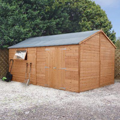 16 x 10 Pressure Treated Wood Workshop_1