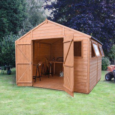 10 x 10 Apex Wooden Workshop Shed_1