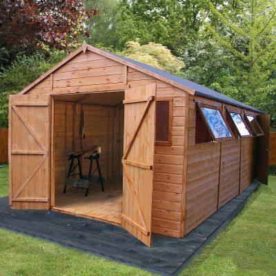 20 x 10 Apex Wooden Workshop Shed_1