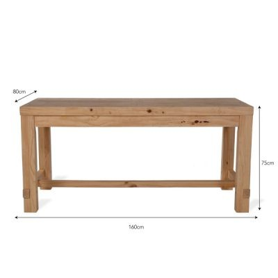 Brookville 4 Seater Pine Dining Table_2