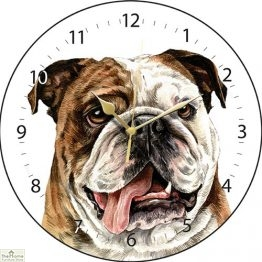 British Bulldog Print Wall Clock
