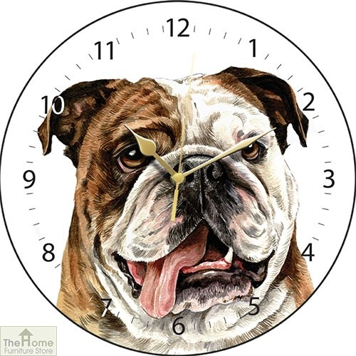 British Bulldog Print Wall Clock
