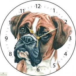 Boxer Dog Print Round Wall Clock