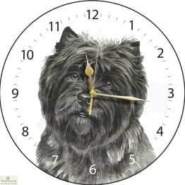 Cairn Terrier Dog Print Wall Clock