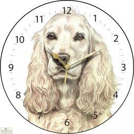 Cocker Spaniel Dog Print Wall Clock _1