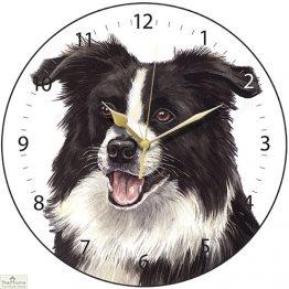 Border Collie Dog Print Wall Clock_3