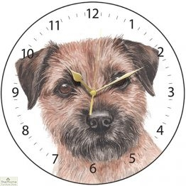 Border Terrier Dog Print Wall Clock