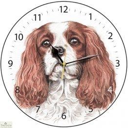 Cavalier King Charles Spaniel Dog Print Wall Clock
