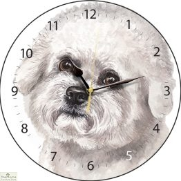 Bichon Frise Dog Print Wall Clock
