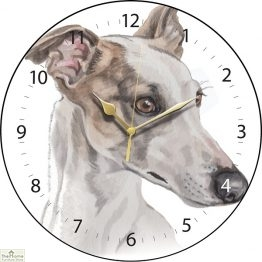 Greyhound Dog Print Wall Clock
