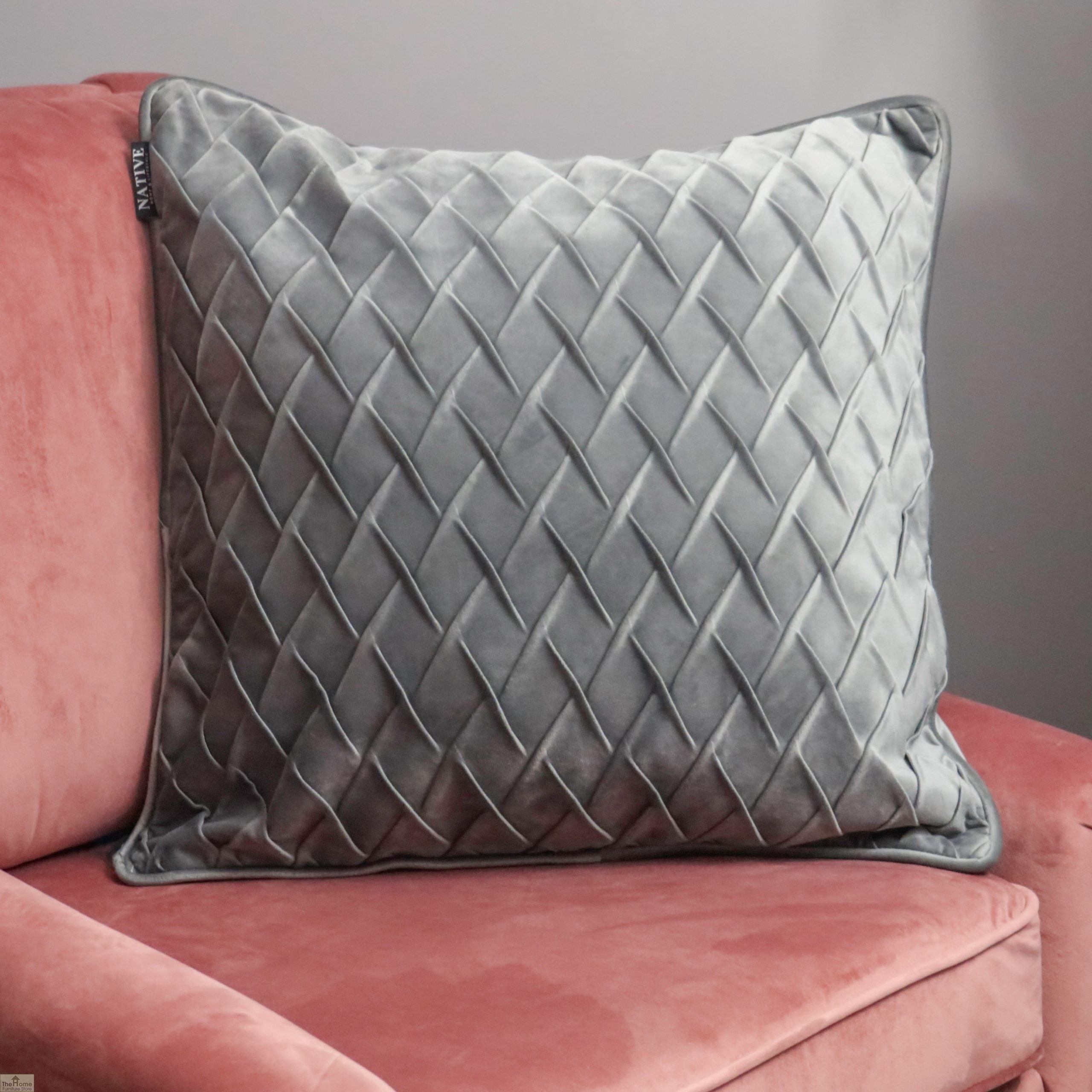 Diamond Grey Velvet Cushion Cover Home Accessories