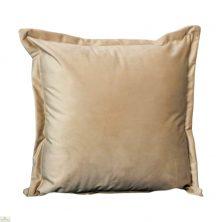 Beige Square Velvet Cushion Cover