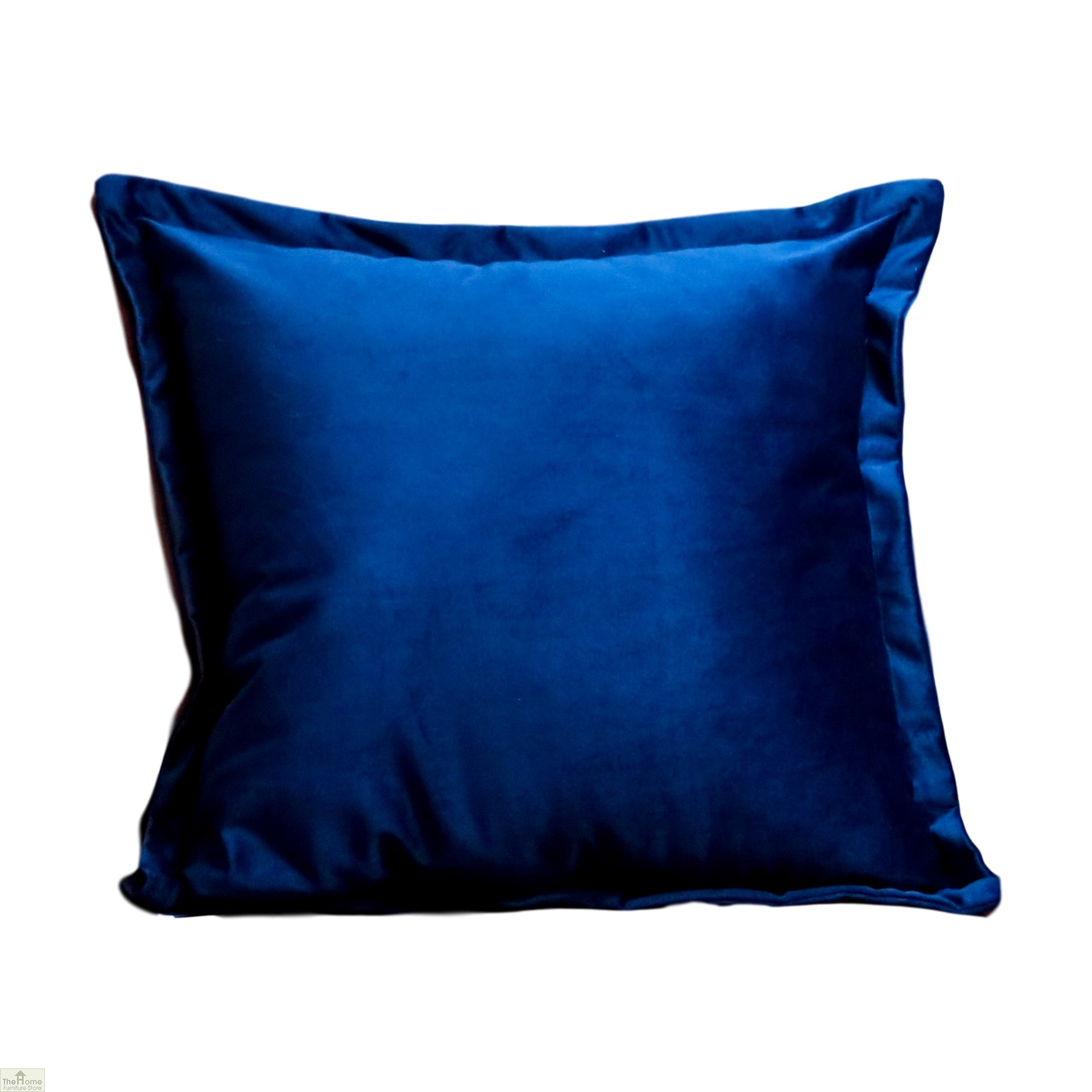 Blue Square Velvet Cushion Cover