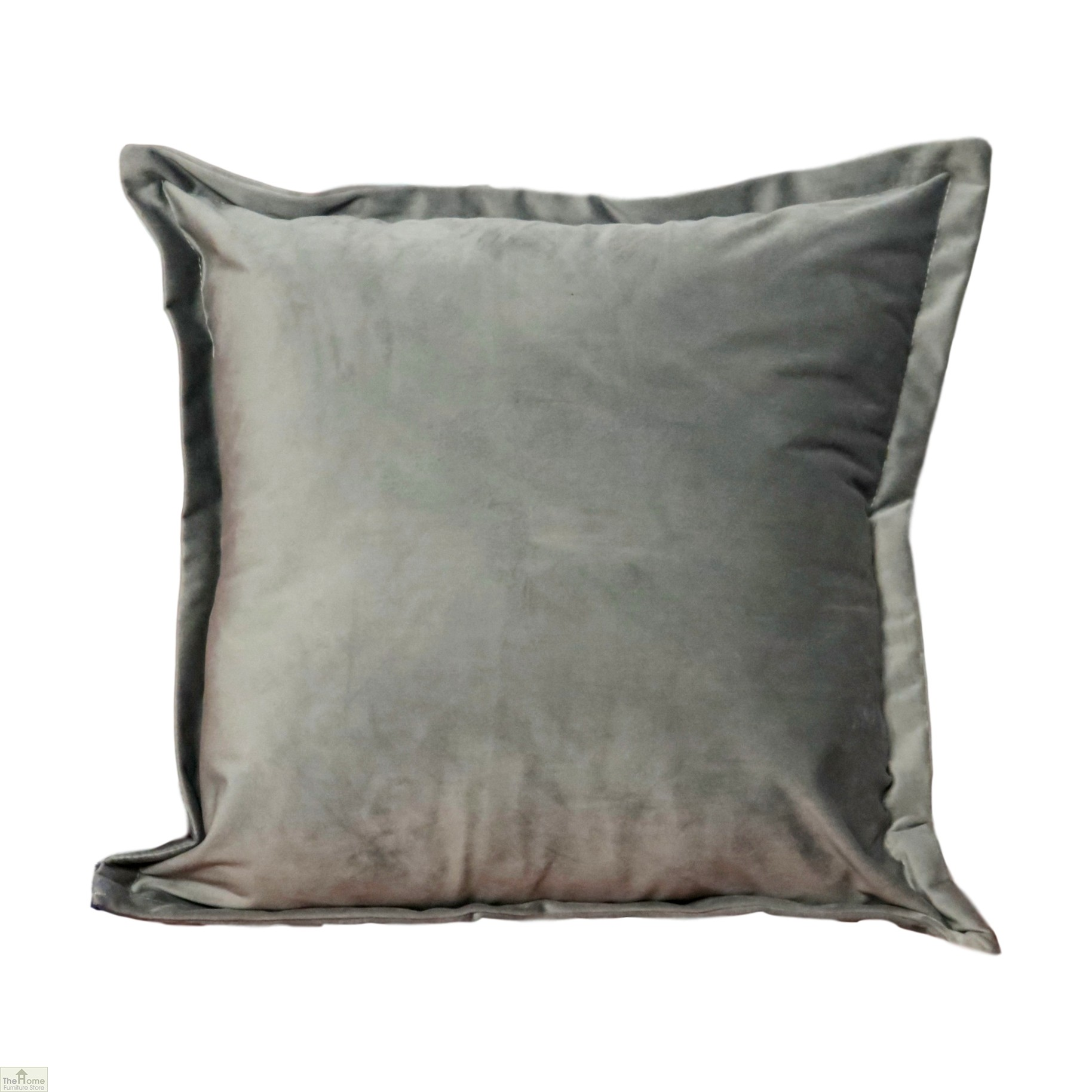 Grey Square Velvet Cushion Cover