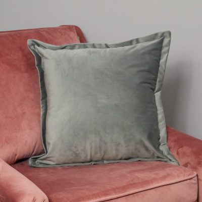 Grey Square Velvet Cushion Cover_1
