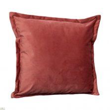 Pink Square Velvet Cushion Cover