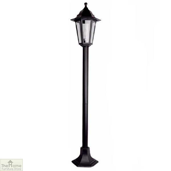 Black 1.2m Garden Bollard Light