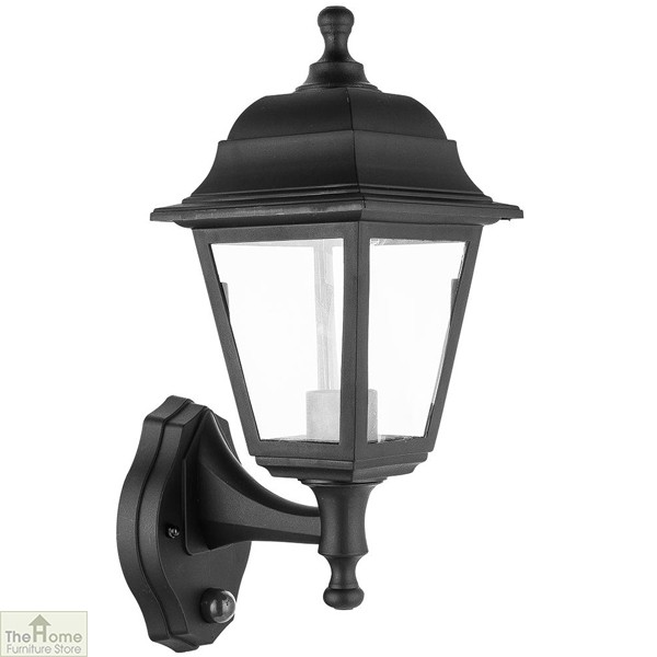Black Lantern Outdoor Wall Light