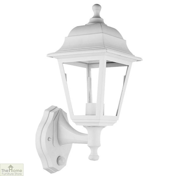 White Lantern Outdoor Wall Light