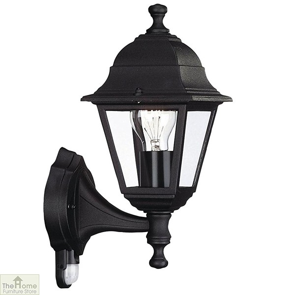 Black Finish Outdoor Wall Light