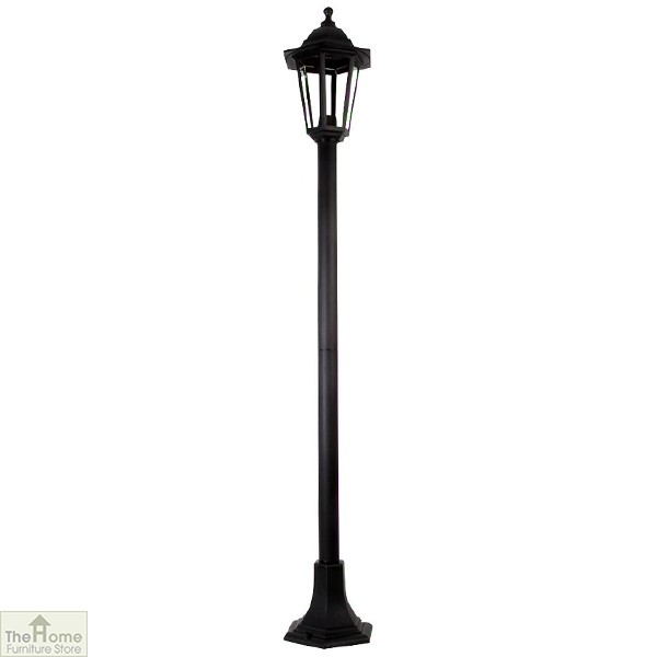 Black 1.2m Garden Post Light